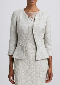 Kay Unger New York Long-Sleeve Embroidered Jacket