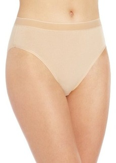 Wacoal Women's Cotton Suede Tailored Hi Cut Panty Pant