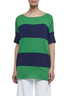 Joan Vass Striped Boxy Sweater, Women's