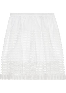 Chloé Layered cotton-blend shorts