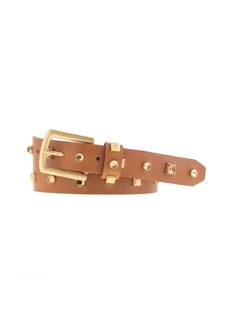 Jewel and stud leather belt