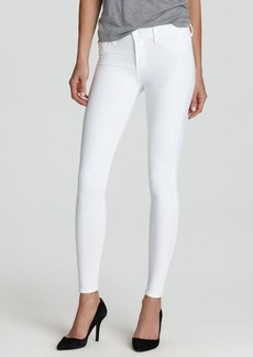 Hudson Jeans - Nico Mid Rise Super Skinny in White