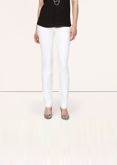 Doubleweave Cotton Fitted Straight Leg Pants in Zoe Fit