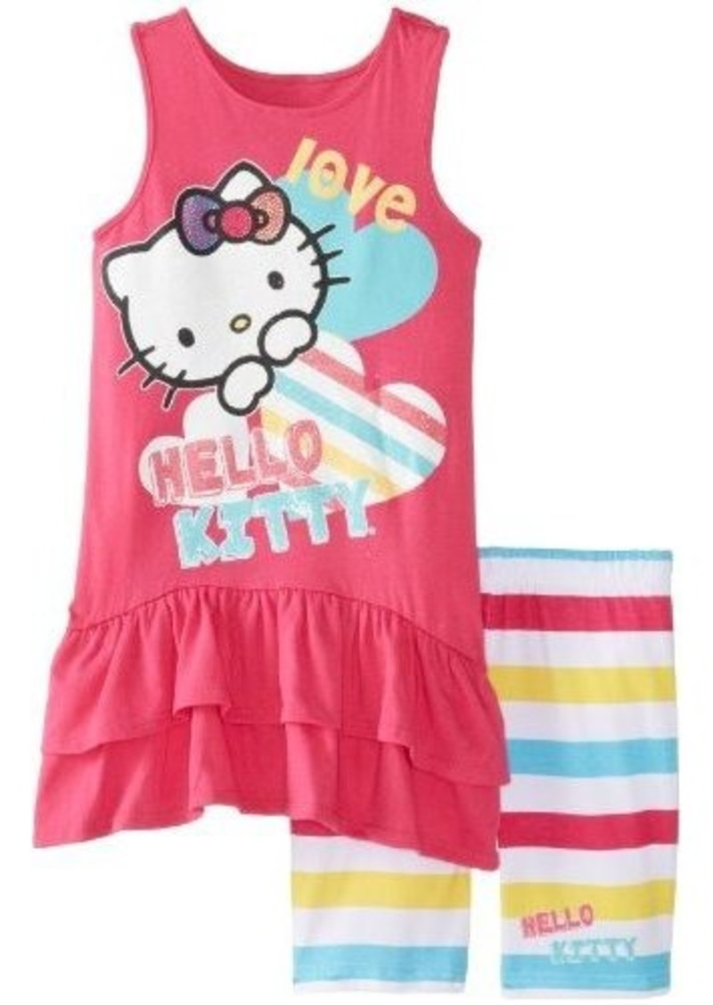 hello kitty hello kitty girls 716 tunic and bike shorts