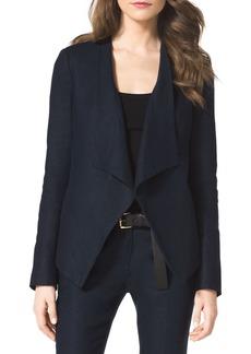 MICHAEL Michael Kors Linen Drape-Front Blazer