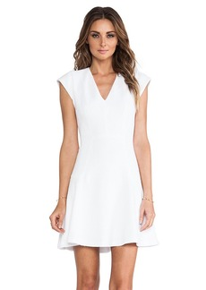Rebecca Taylor Novelty Texture Dress in White