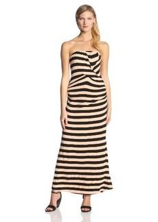 Ella Moss Women's Isla Striped Jersey Strapless Maxi Dress