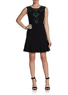 Diane von Furstenberg Jilleigh Embellished Fit & Flare Dress