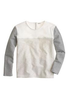 Back-zip colorblock sweatshirt