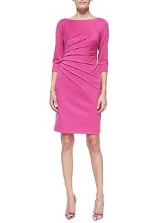 David Meister 3/4-Sleeve Knit Sheath Dress, Pink