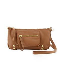 Linea Pelle Dylan Zip Leather Crossbody Bag, Coffee Bean