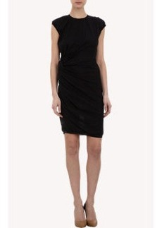 Lanvin Gathered Side Knot Dress