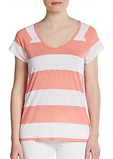 C&C California Slub Striped Raglan Top