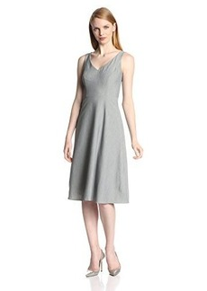 Isaac Mizrahi New York Women's Stretch V-Neck Dress