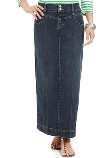 Style&co. Skirt, Denim Maxi, Rinse Wash