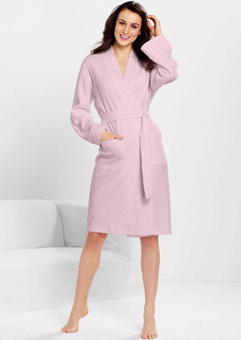 Charter Club Waffle Knit Kimono Robe