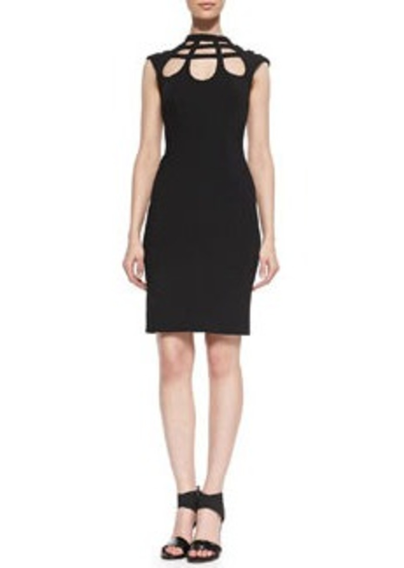 Open-Back Cutout Crepe Dress   Open-Back Cutout Crepe Dress
