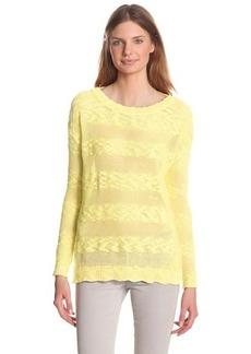 Design History Women's Slub Stripe Oversize Sweater