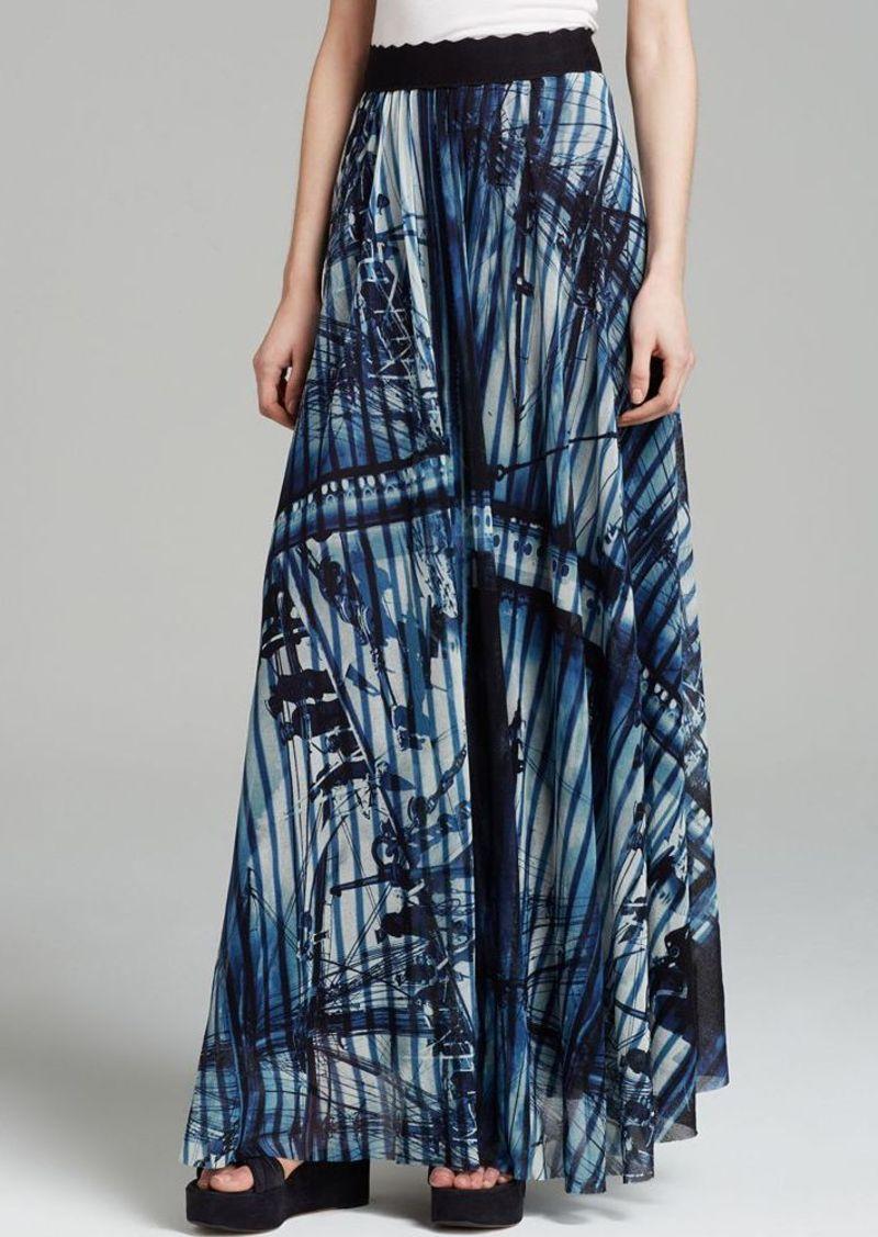 Jean Paul Gaultier Skirt - Ship Print Maxi