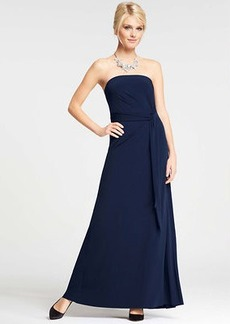 Petite Strapless Jersey Gown