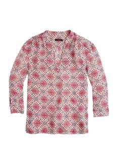 California poppy blouse
