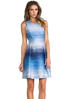 Shoshanna Helena Ombre Tweed Dress in Blue