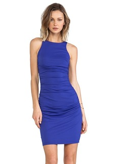 Susana Monaco Double Racer Back Dress in Blue