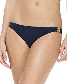 Tory Burch Logo-Side Swim Bottom, Tory Navy