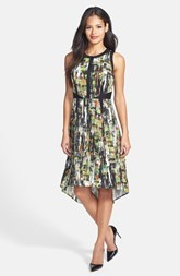 Classiques Entier® Print High/Low Stretch Silk Dress