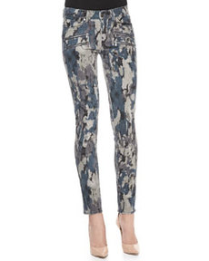 Paige Denim Edgemont Camouflage Zip Pocket Jeans, Madagascar