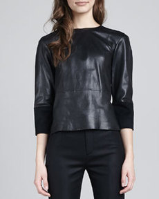 J Brand Ready to Wear Anya Leather Top