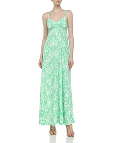 Susana Monaco Sleeveless Printed Jersey Maxi Dress, Zing