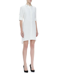 Prairie Tab-Sleeve Shirtdress   Prairie Tab-Sleeve Shirtdress