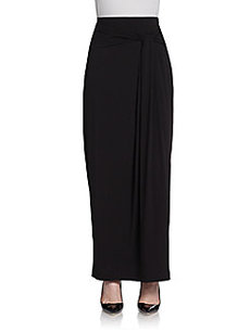 Saks Fifth Avenue BLACK Knot Maxi Skirt