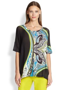 Etro Printed Gauze Top