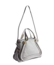 Chloe grey leather 'Paraty' medium top handle bag