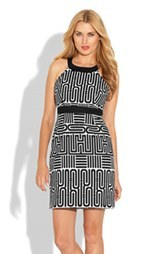 Laundry by Shelli Segal Geo Print Sheath Dress (Petite) (Petite)
