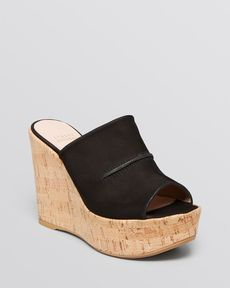 Stuart Weitzman Open Toe Slide Wedge Platform Sandals - Herenow