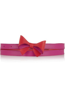 M Missoni Bow-embellished leather belt