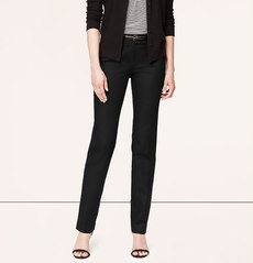 Tall Doubleweave Cotton Fitted Straight Leg Pants in Marisa Fit