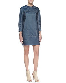 Jason Wu Silk Denim Smock Dress