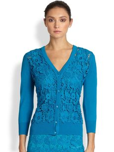 Escada Swiss Lace Cardigan
