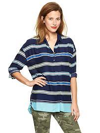 Stripe dolman-sleeve top