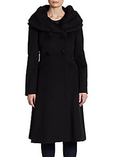 Cinzia Rocca Portait Collar Dress Coat