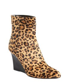 Jimmy Choo leopard print calf hair 'Mayor' wedge ankle boots