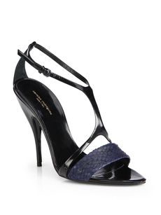 Narciso Rodriguez Mixed Media Cage Sandals