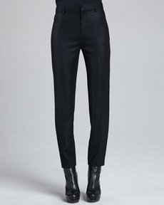 J Brand Ready to Wear Jennie Cropped Crepe Pants