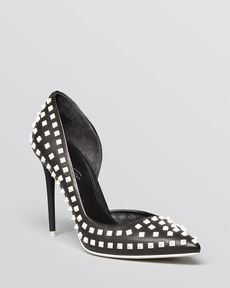 Kenneth Cole Pointed Toe D'Orsay Pumps - York Studded High Heel