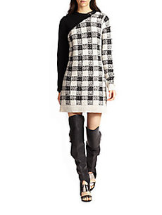 3.1 Phillip Lim Wool & Cashmere-Blend Colorblock Plaid Sweater Dress