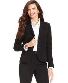 Jones New York Petite Jacket, Double-Button Blazer
